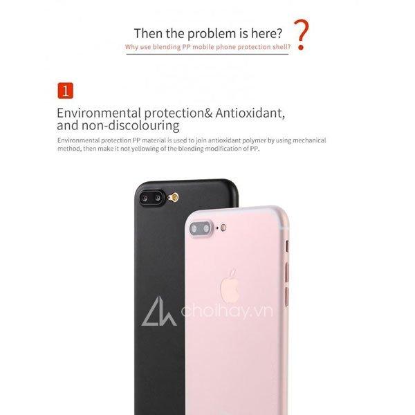 Ốp lưng siêu mỏng Memumi 0,3mm cho iPhone 7/7 Plus/iPhone8/8 Plus/iPhone X